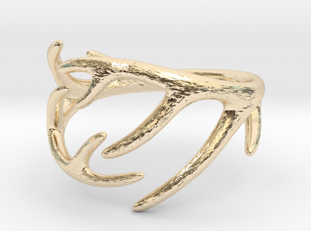 Antler Ring No.2(Size 8) in 14k Gold Plated Brass