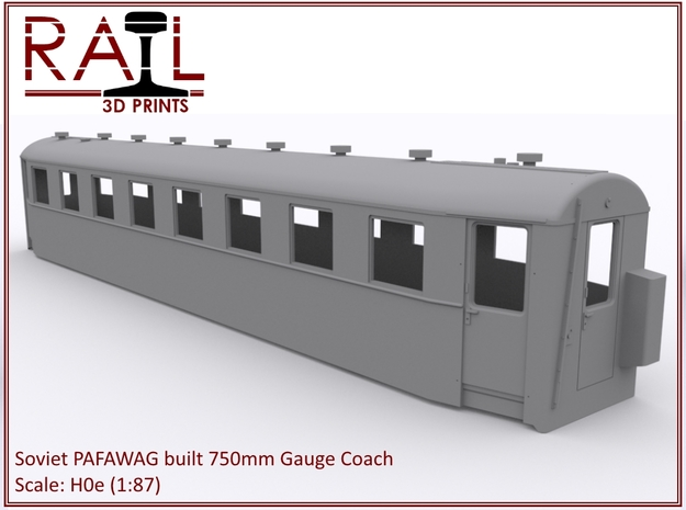 H0e - PAFAWAG - 750mm Gauge Coach