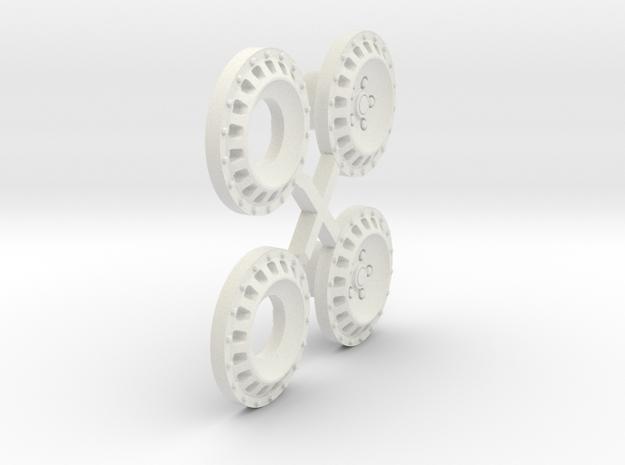 S05-SI1 4WD Wheel Inserts Lancia OZ Rally in White Natural Versatile Plastic
