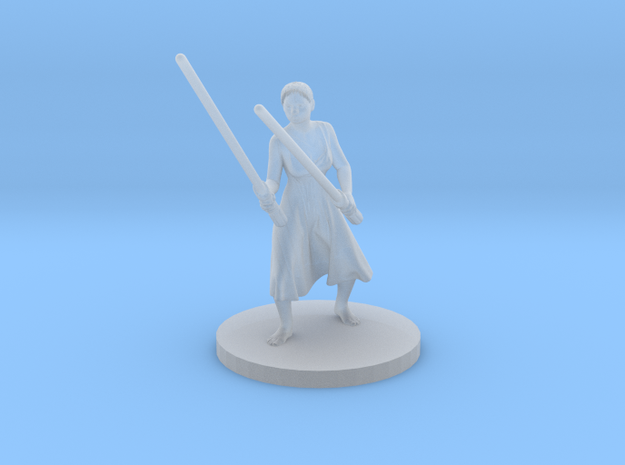 Irina with two lightsabers V2 in Smoothest Fine Detail Plastic