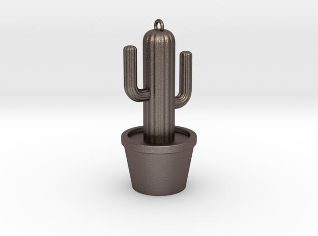 Cactus Keyring in Stainless Steel