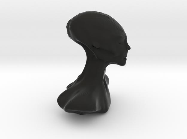 Homo Capensis Alien Bust in Black Natural Versatile Plastic