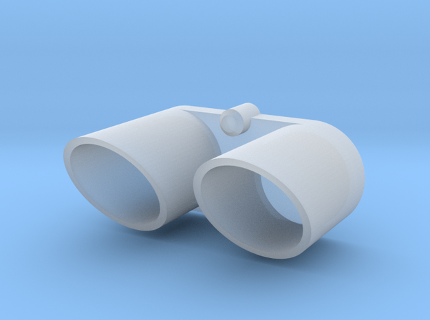 416005-01  Rising Fighter Exhaust Tips in Smooth Fine Detail Plastic