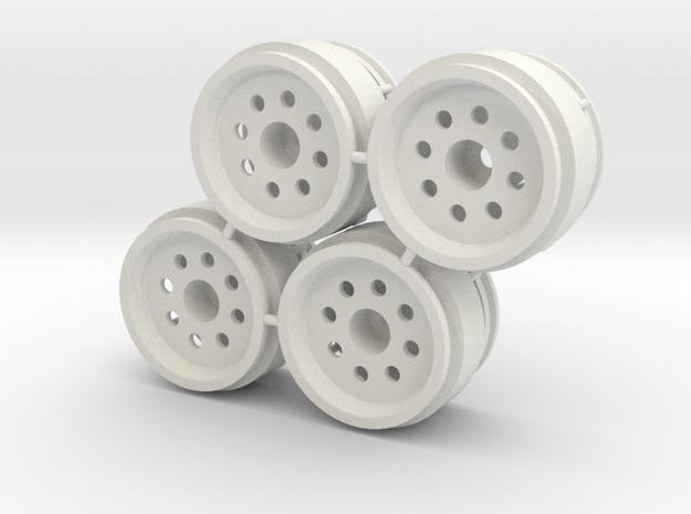 "Rim 2 part weighted 1/8"" offset - LosiMcRC/Trekker in White Natural Versatile Plastic"