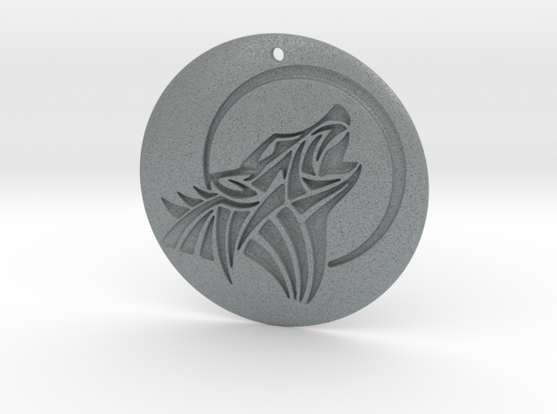 Houling Wolf Pendant in Polished Metallic Plastic