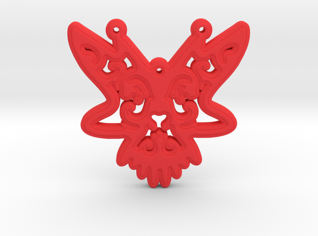 ButterFly Pendant in Red Processed Versatile Plastic
