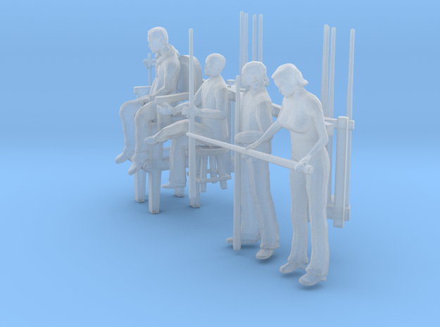 Pool Players 'O' Scale in Smooth Fine Detail Plastic