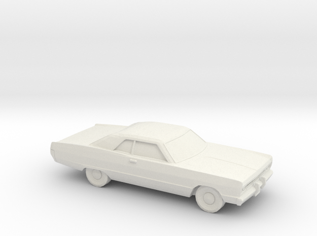 1/87 1969 Plymouth Fury Coupe in White Strong & Flexible