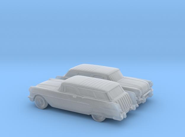 1/160 2X 1957 Pontiac Safari in Smooth Fine Detail Plastic