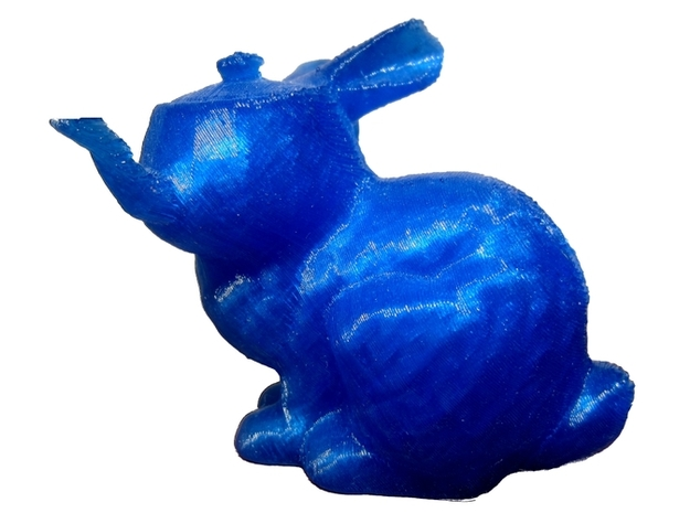 TeaBunny 3d printed TeaBunny in blue - printed on the BFB