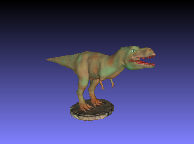 Dinosaurs World Tyrannosaurus Trex Full Color in Frosted Ultra Detail