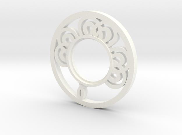 MHS compatible Medieval Tsuba in White Processed Versatile Plastic