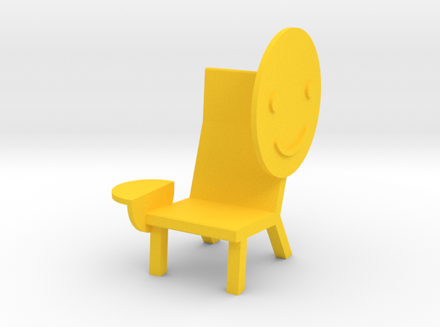 'EMOJI CHAIR - SMILE' by RJW Elsinga 1:10 in Yellow Strong & Flexible Polished