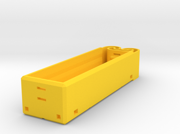 18650 Single Holder in Yellow Strong & Flexible Polished