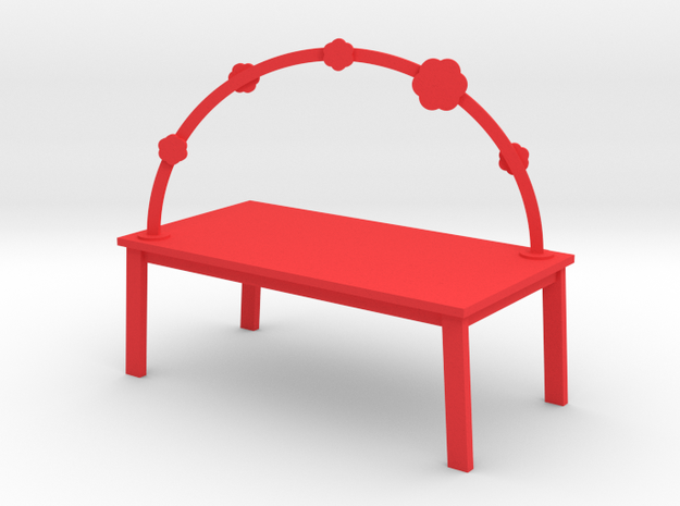 RAINBOW TABLE - BLOSSOM by rjw elsinga 1:12 in Red Strong & Flexible Polished
