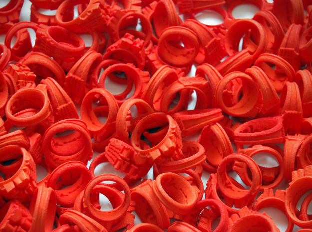 I Love Holland Rings 4xD20,40xD18,44xD16 in Orange Strong & Flexible Polished