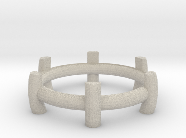 Tea light stand in Sandstone