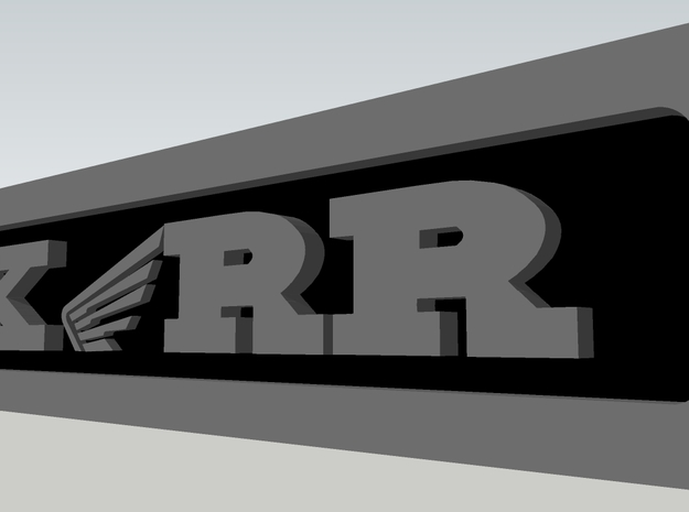 CXwingRR Engine Badge - Left 3d printed