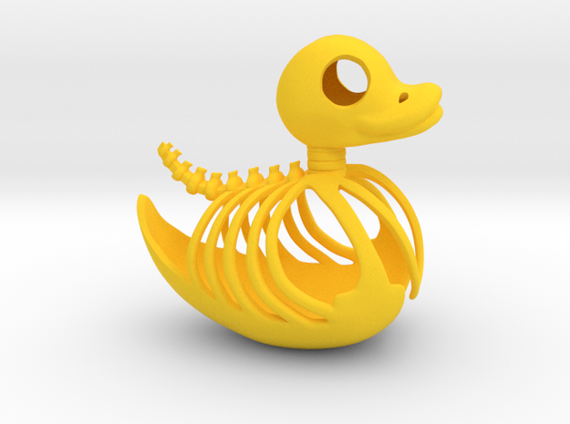 Ducky Skeleton in Yellow Processed Versatile Plastic