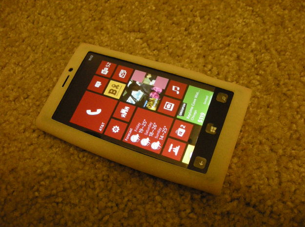 Nokia Lumia 920 Soft Case 3d printed Feel Free to Download it and Print using Elasto Plastic