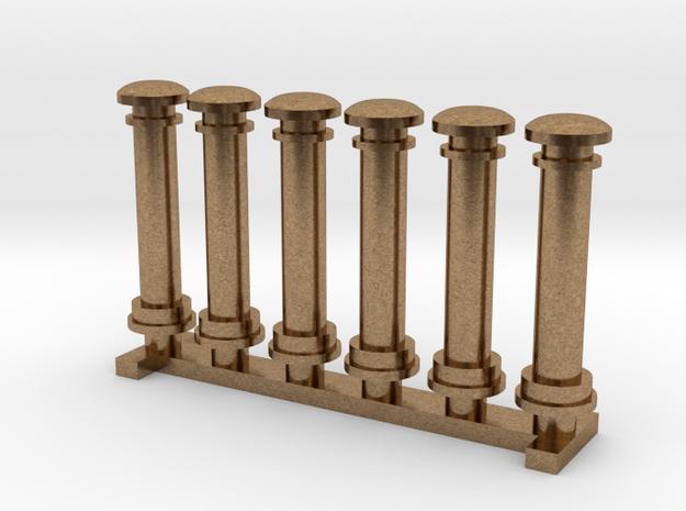 Tender Ventilation Columns in Natural Brass