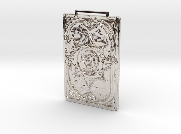 Hearthstone Card - Necklace in Rhodium Plated
