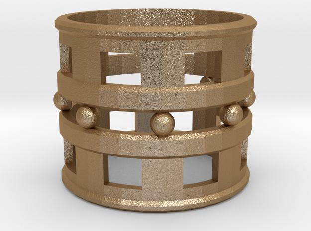 Trojan Women Ring [Size 10] in Matte Gold Steel