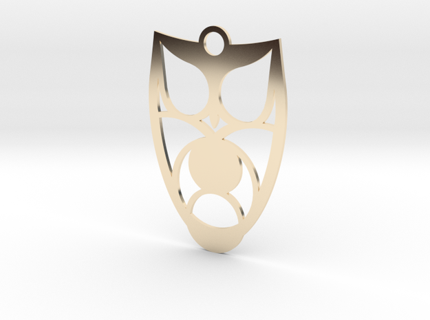 Owl #3 in 14k Gold Plated Brass