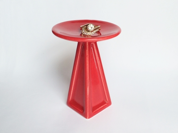 Porcelain Jewelry Pedestal - for 3d printed rings!