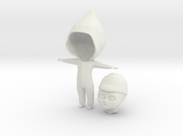 Baby Character for Senior Thesis in White Natural Versatile Plastic