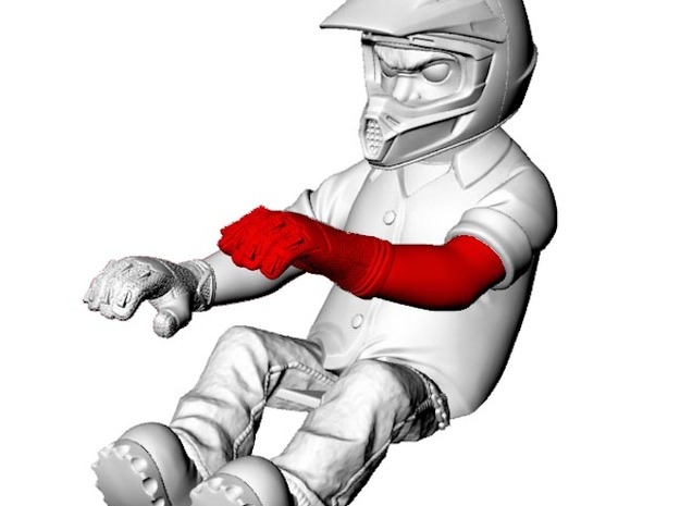 WW10007 Wild Willy Glamis driver arm - LEFT 3d printed Purchase only includes red part. See link below to purchase the complete figure