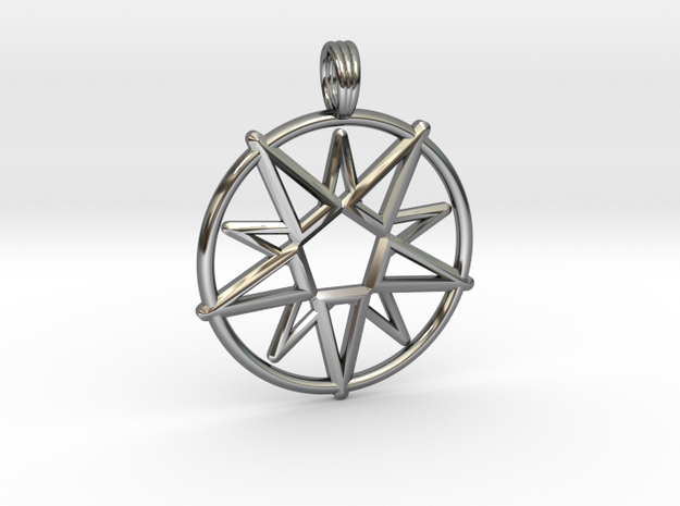MAGIC CIRCLE in Fine Detail Polished Silver