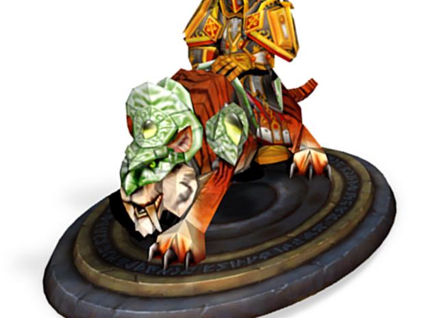Dwarf Paladin mounted on tiger 3d printed