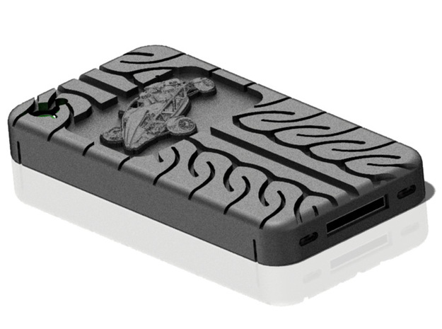 iPhone 4S Atom AD08 tread in Black Natural Versatile Plastic