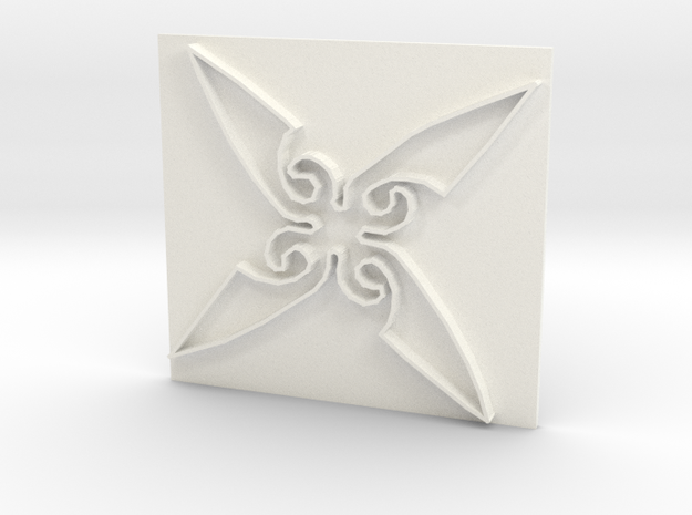Throwing Star in White Processed Versatile Plastic