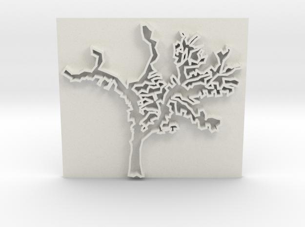 Tree in White Natural Versatile Plastic