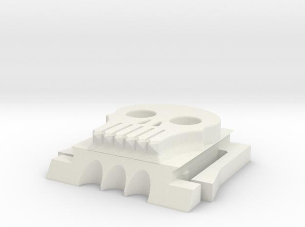 Skully hot shoe cover in White Natural Versatile Plastic