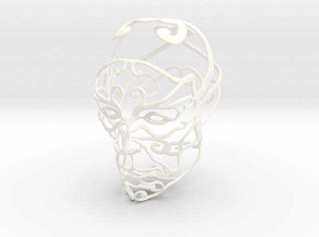 WireHead in White Processed Versatile Plastic