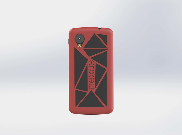 NEXUS 5 Case Modified in Red Strong & Flexible Polished