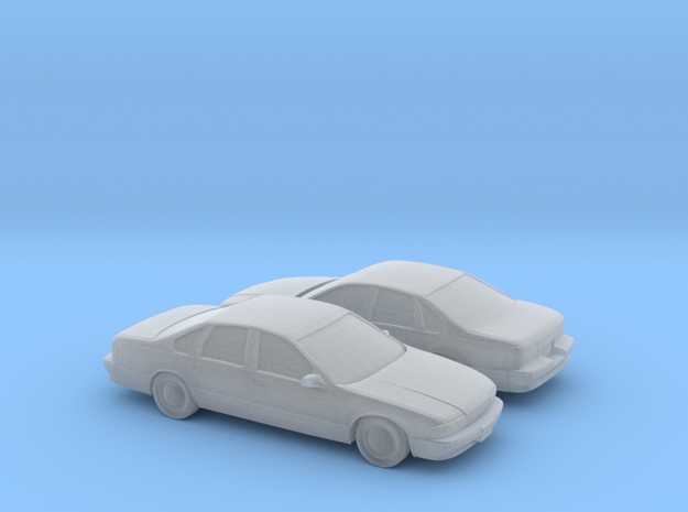 1/160 2X 1994-96 Chevrolet Impala in Smooth Fine Detail Plastic