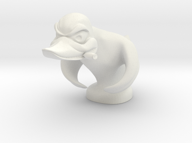 Death Proof Duck in White Natural Versatile Plastic