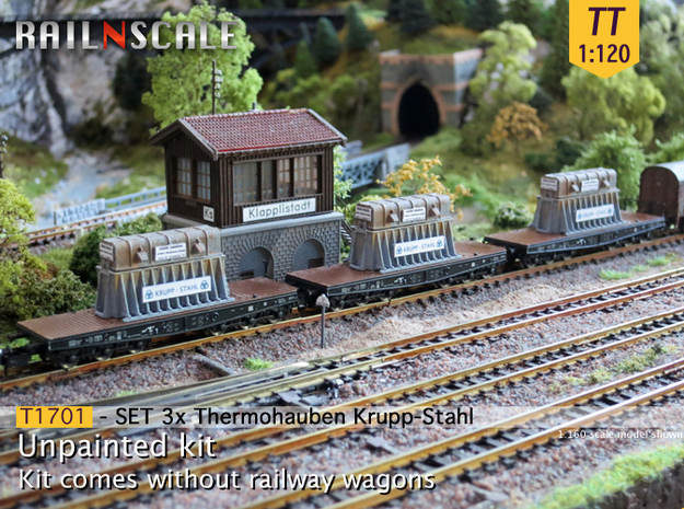 SET 3x Thermohauben (TT 1:120) in Frosted Ultra Detail