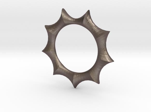Swept Away: Vesica in Polished Bronzed Silver Steel
