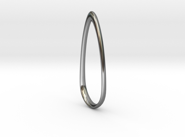 Swept Away: Teardrop Pendant in Fine Detail Polished Silver