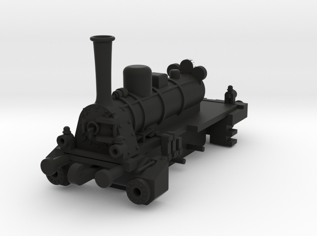 Steam Locomotive T3Scale  N Part 002 in Black Natural Versatile Plastic