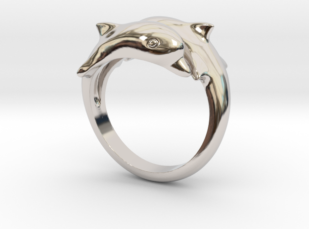 Dolphins Ring  3d printed