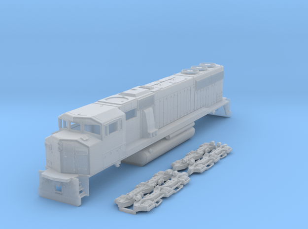 TT Scale SD60m Triclops in Smooth Fine Detail Plastic