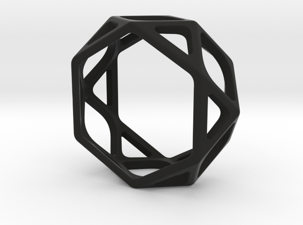 Structural Ring size 7 in Black Natural Versatile Plastic