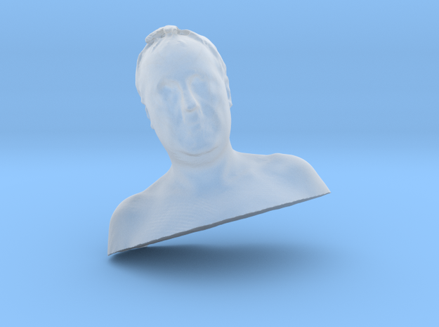 male bust 48mm in Smooth Fine Detail Plastic