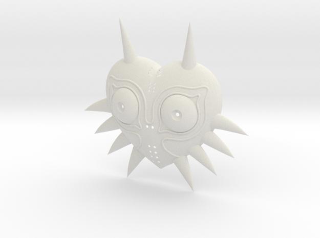 Majoras Mask (Ornamental) in White Natural Versatile Plastic